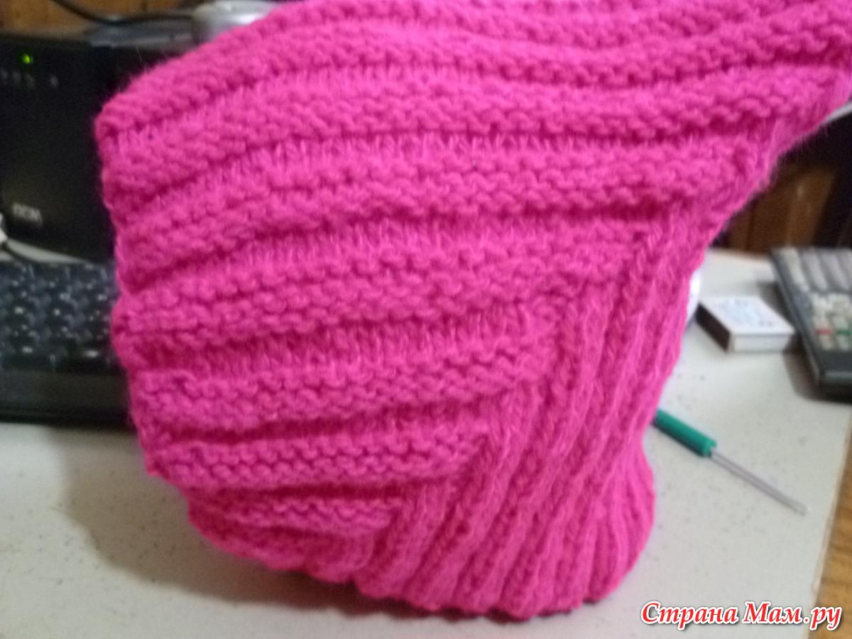 Вязание спицами шапочки эльф