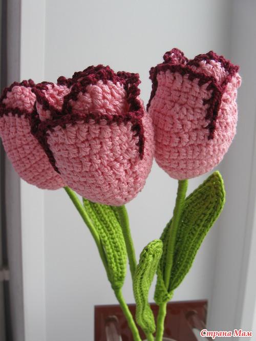 Вязаные тюльпаны