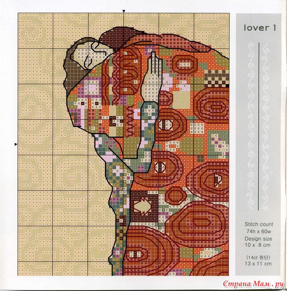 Репродукция схема для вышивки крестом