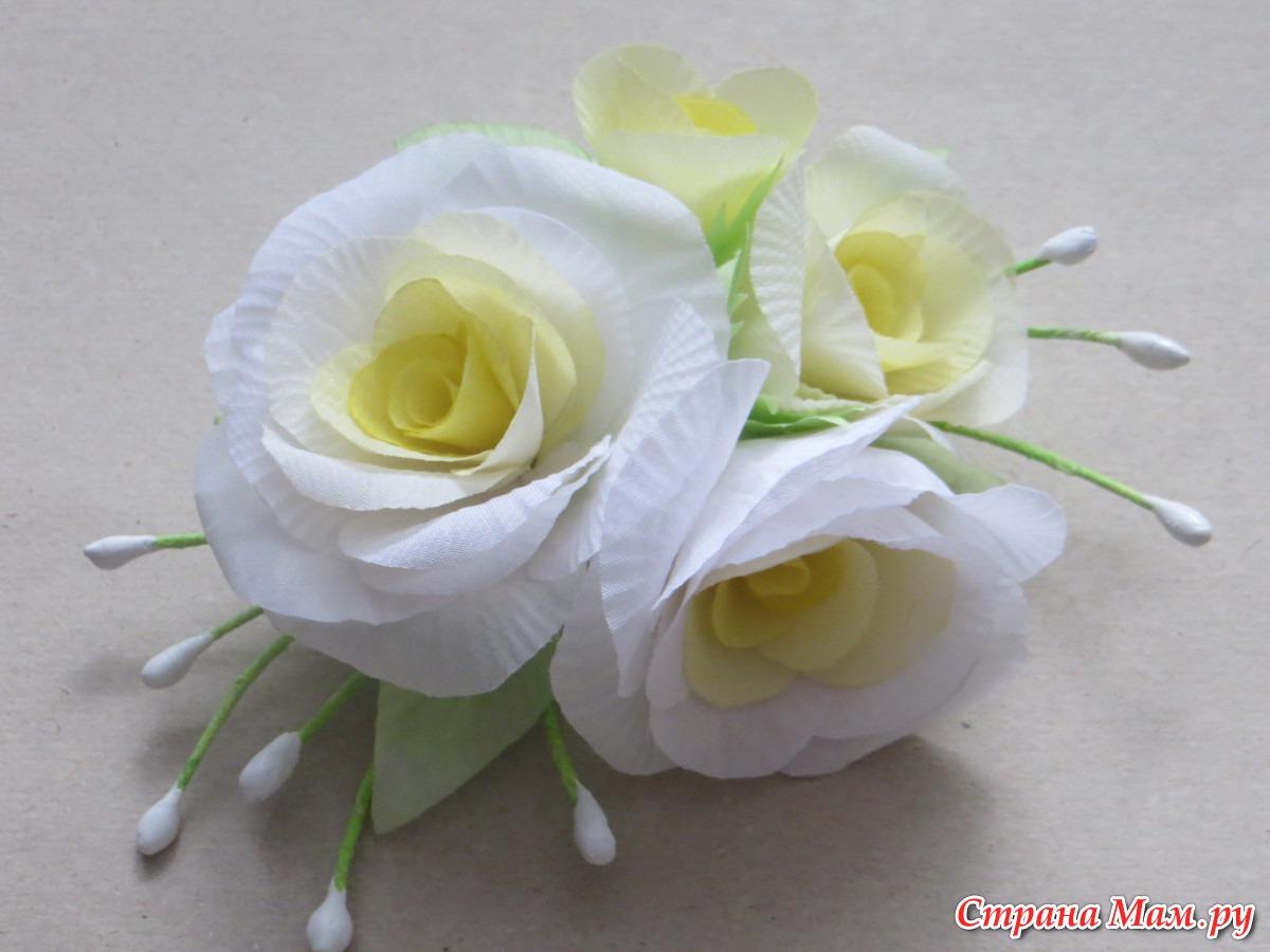Мои цветочки из ткани без инструментов. - Цветы из ткани - Страна Мам