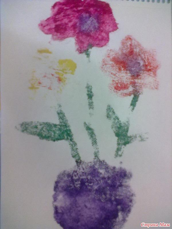 Рисунок луг с цветами