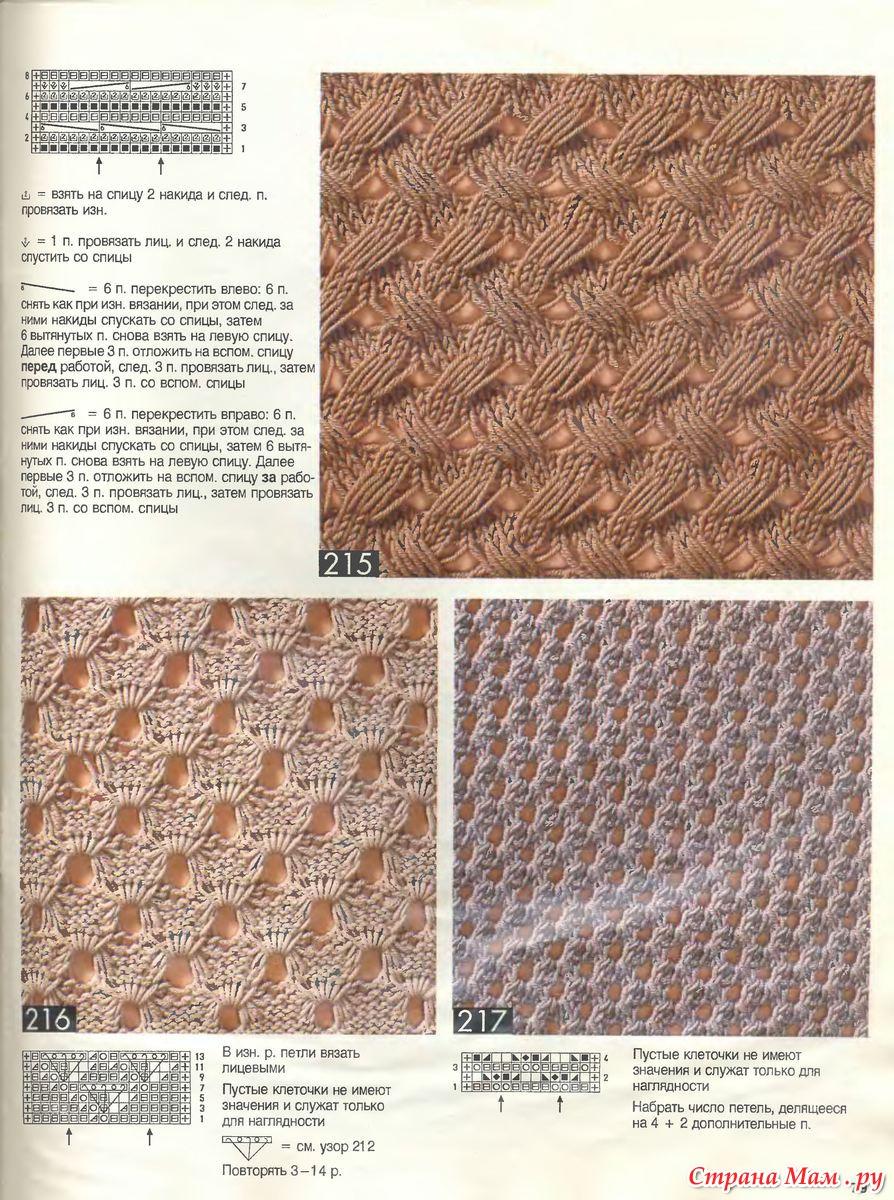Стильные узоры для вязания спицами