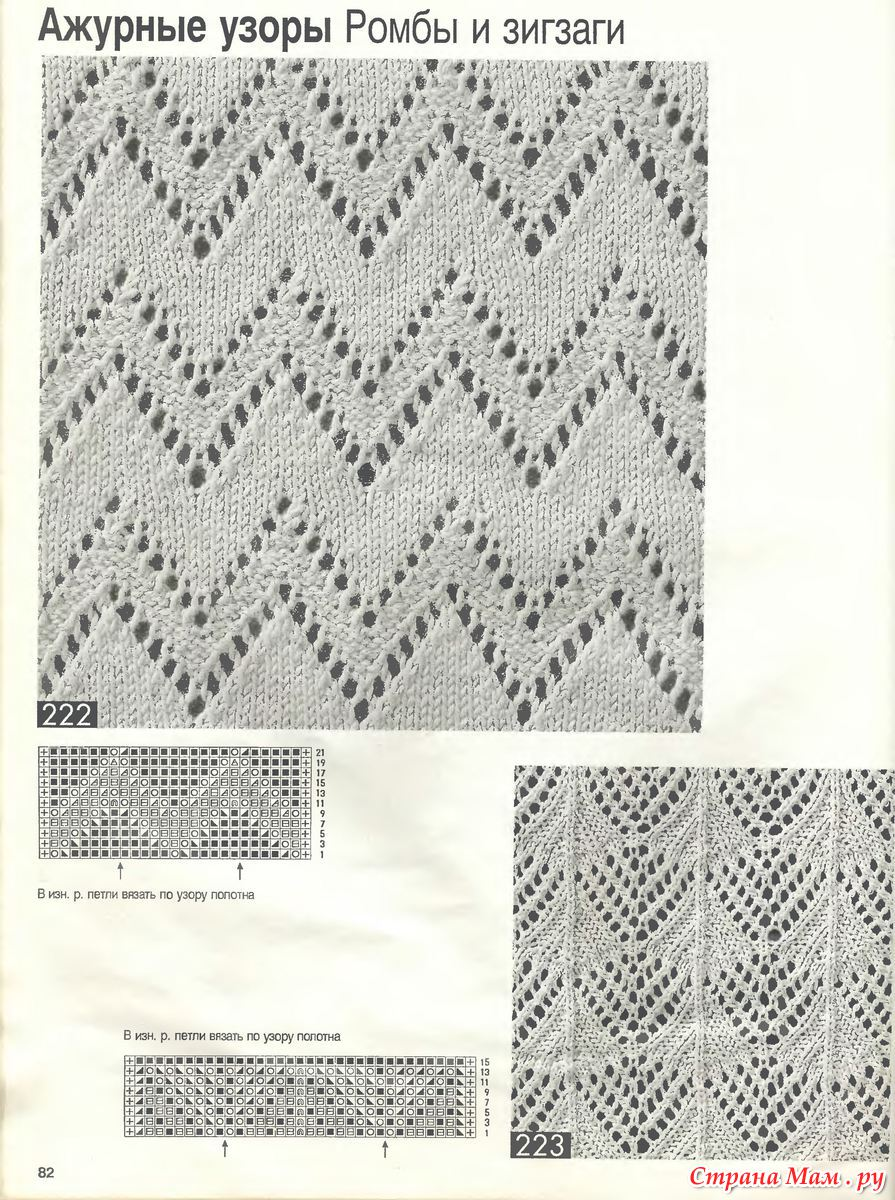 Узоры для вязания спицами » Более 750 схем с описанием 91