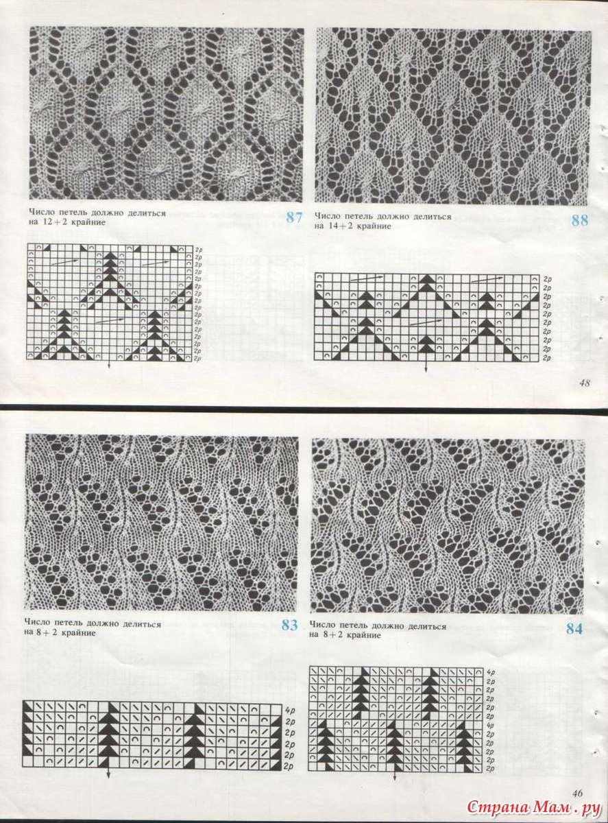 Узоры вязания на машине