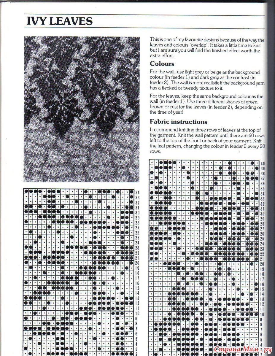 Вязание спицами узоры кленовые листочки