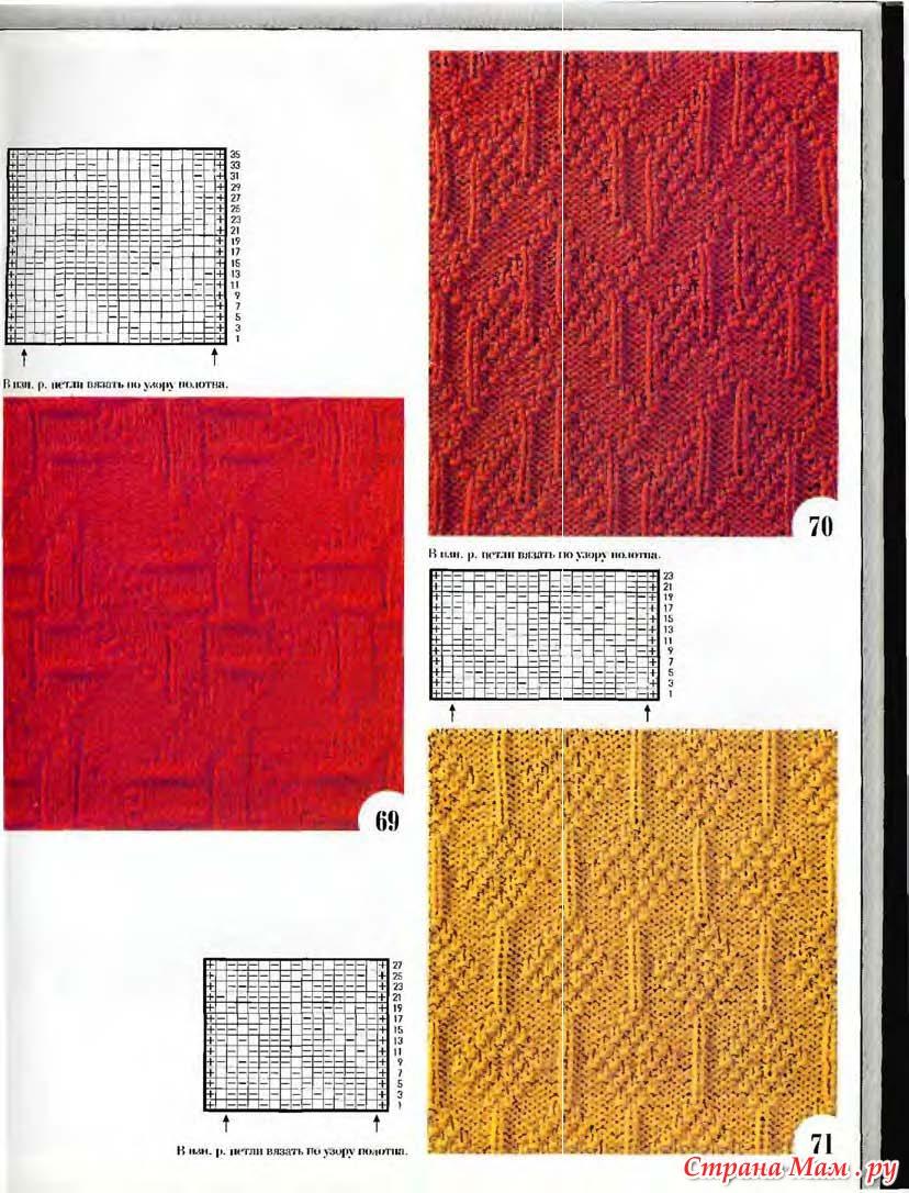Узоры и схемы вязания спицами описание 5