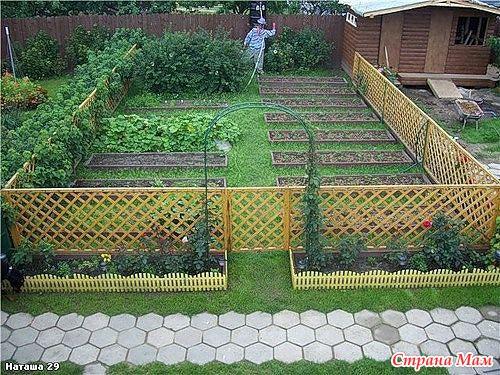 Забор в огороде своими руками