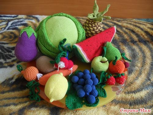 Фрукты и овощи крючком.