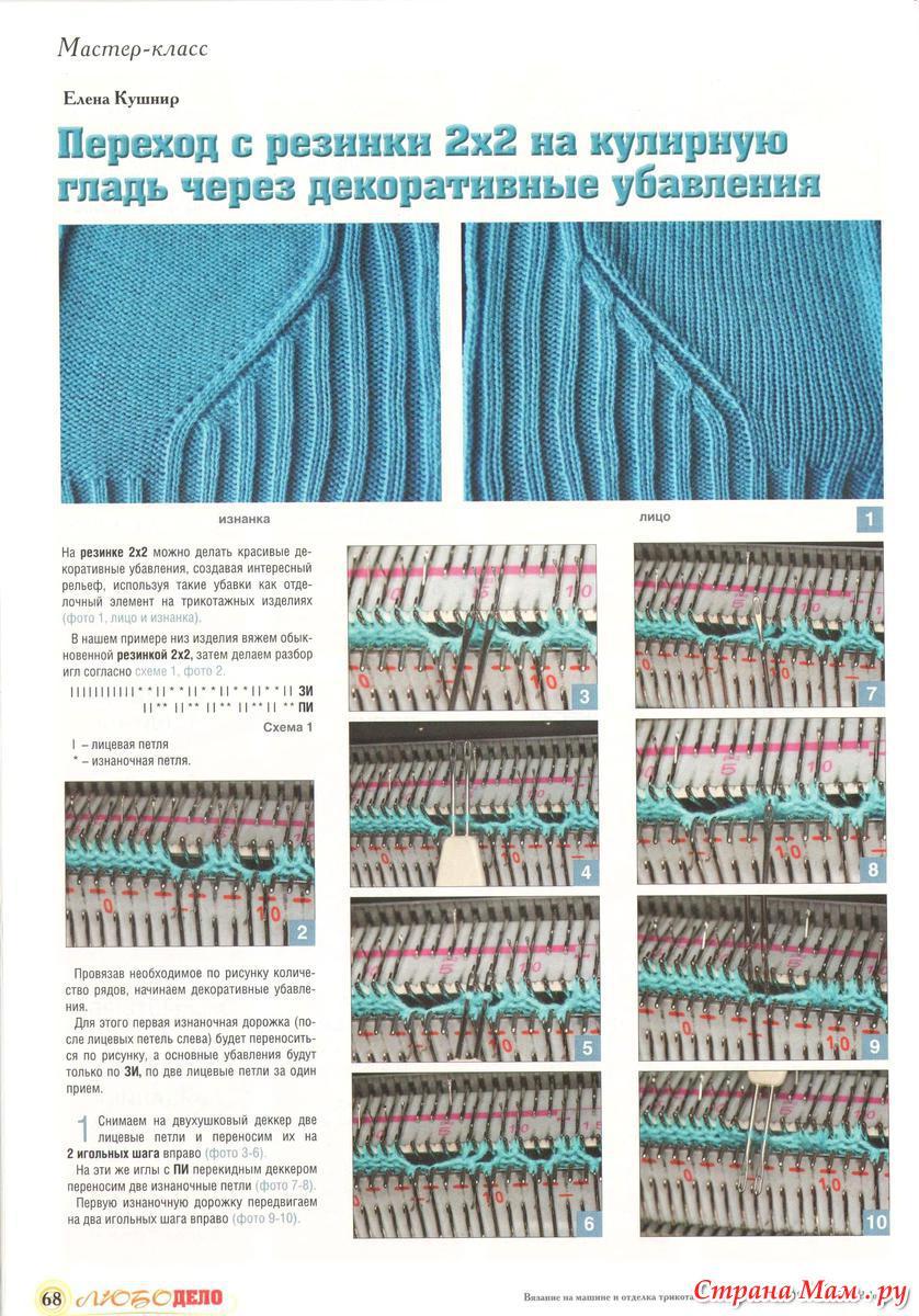 Журналы по вязанию на однофонтурной машине
