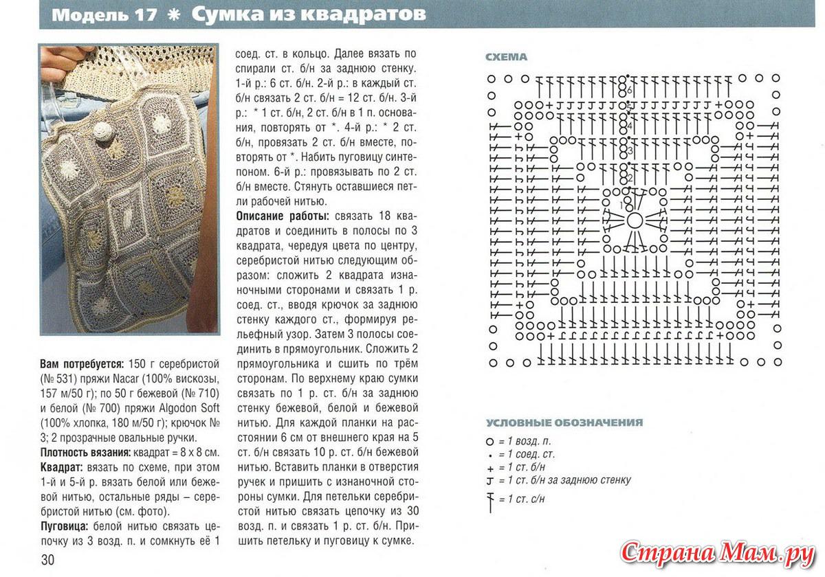 Тапочки из бабушкиного квадрата крючком схемы и описание