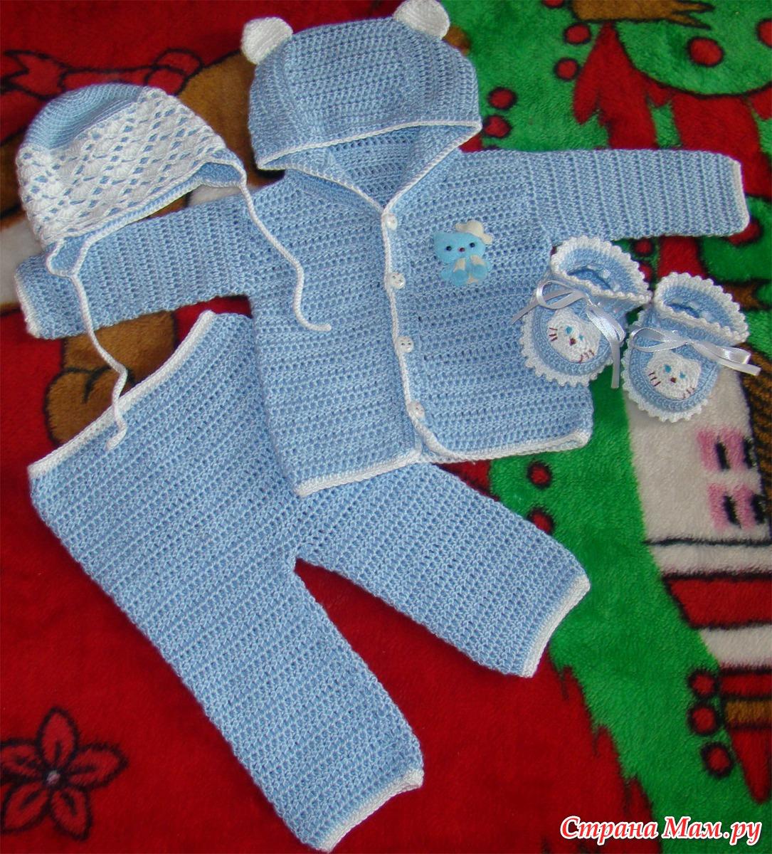 Вязаная одежда для новорожденных своими руками фото