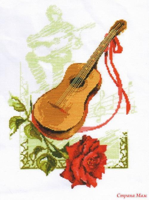 """Схема вышивки крестом """"Гитара"""""""