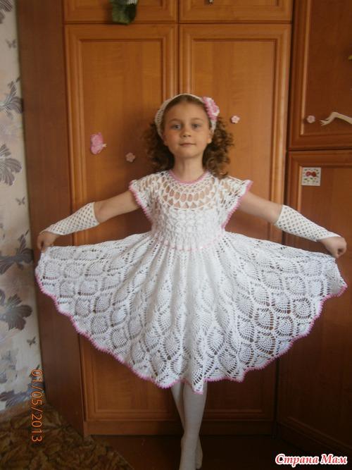Вяжем платье крючком. Схемы с описанием и видео для женщин