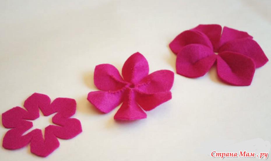 Объемные цветы из ткани своими руками мастер