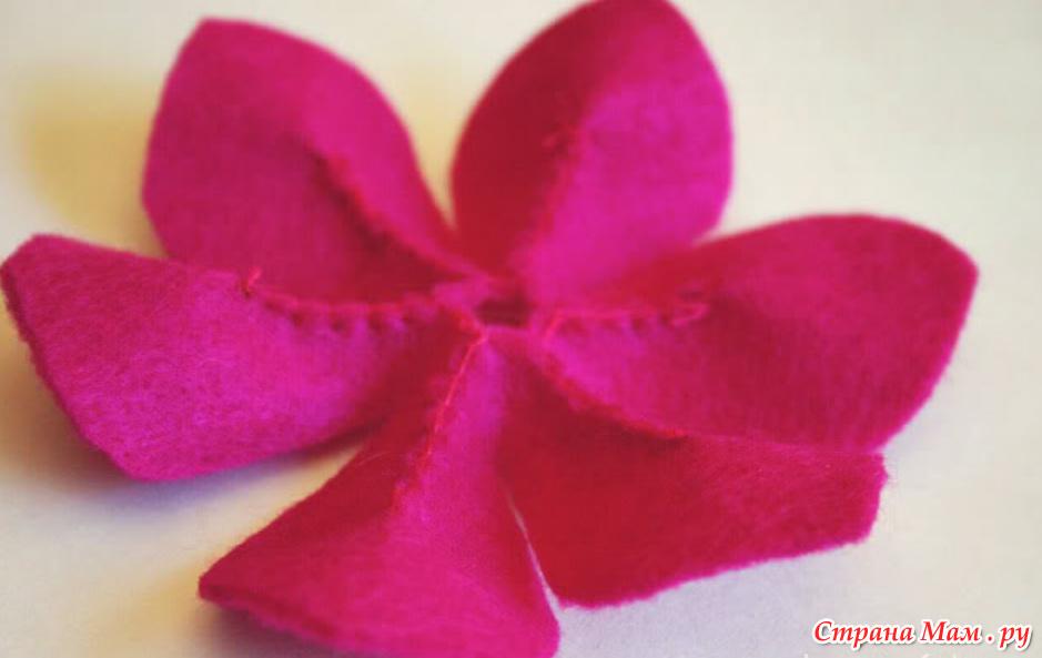 Цветы из драпа