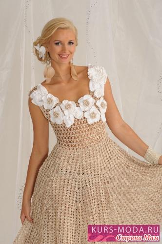 Тэги: крючком, платье, схема