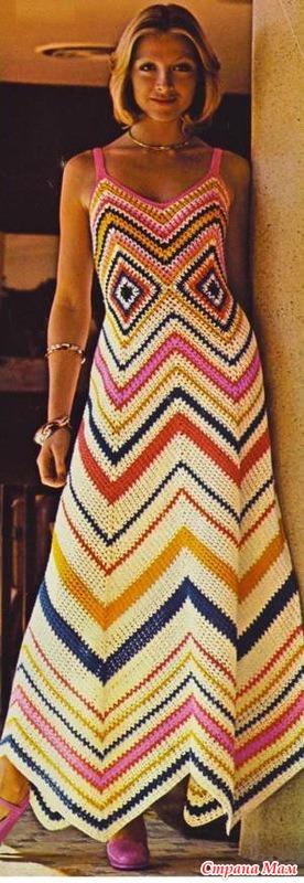 Платье миди в стиле Миссони
