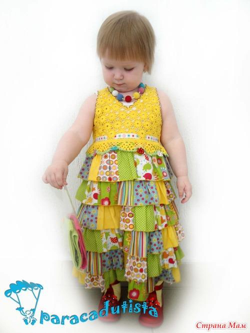 Пэчворк платья для девочки
