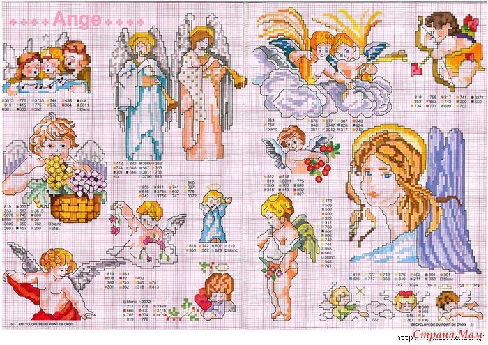 Схемы детской вышивки