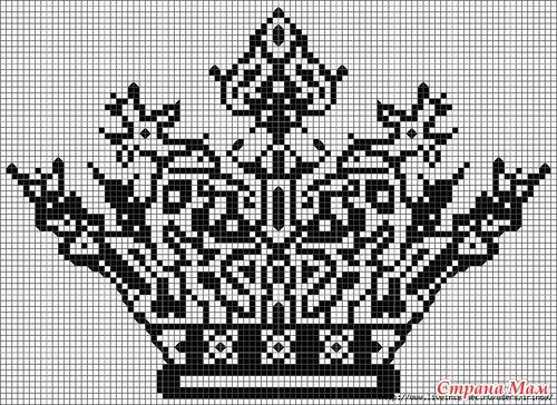 Вышивка крестом монохром миниатюры схемы 83
