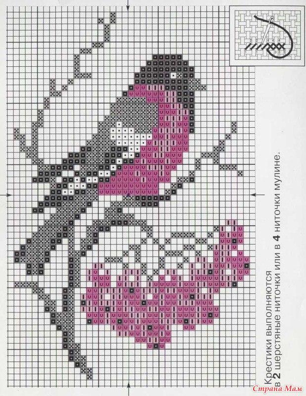 вышивки крестиком схемы тюльпаны