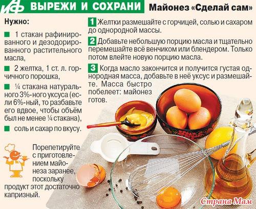 Как самому в домашних условиях приготовить майонез