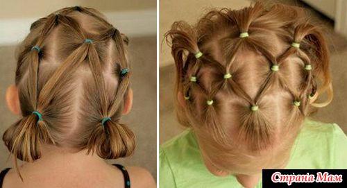 Как сделать красивые волосы для детей видео