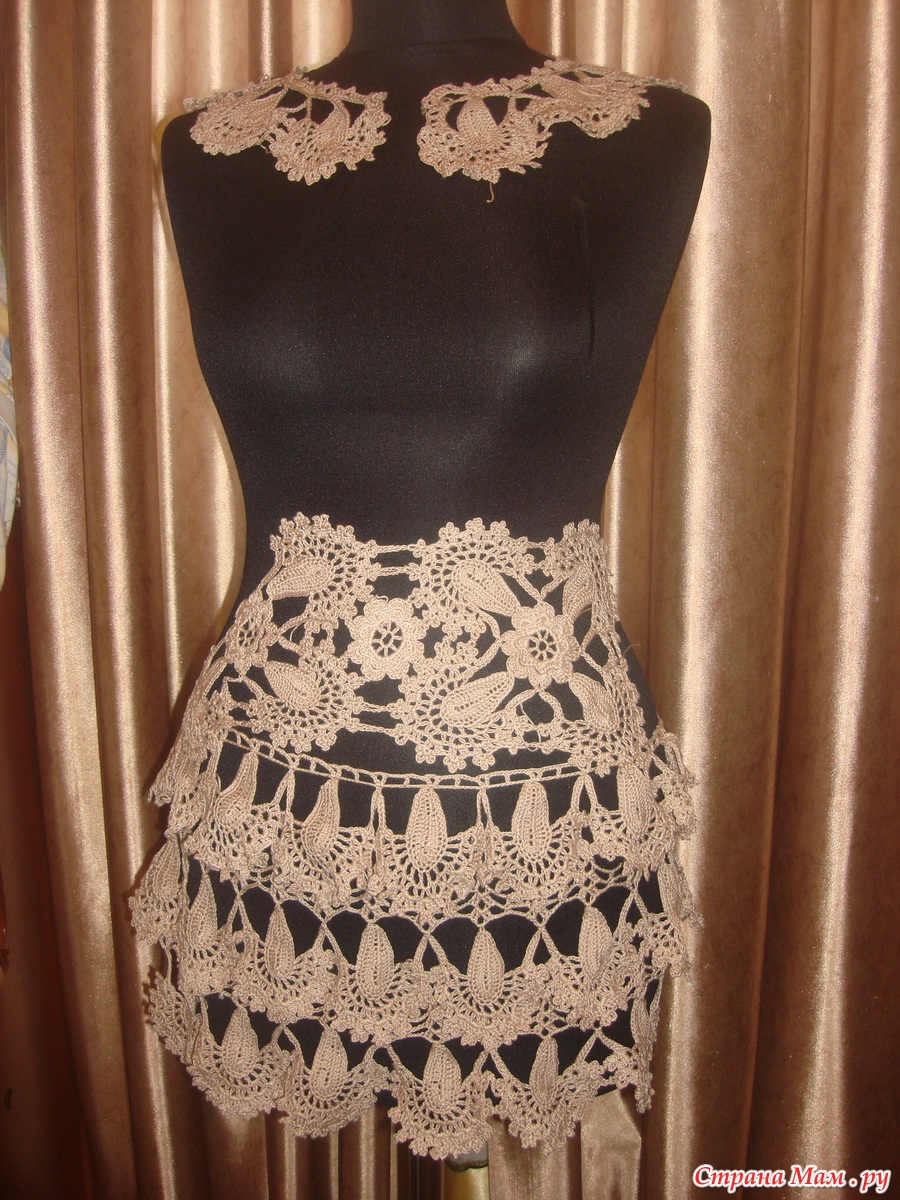 Вязание платья по мотивам ванессы монторо мк 74
