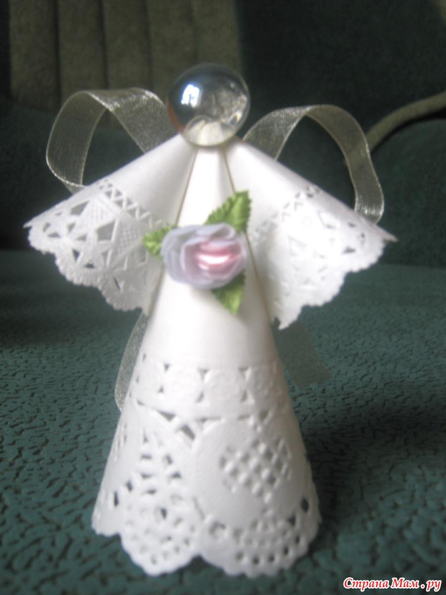 Ангелочек из салфетки своими руками