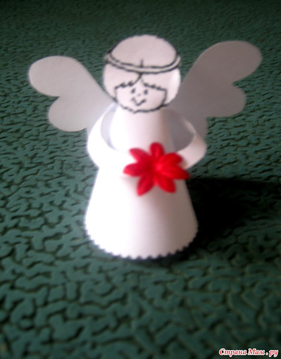 Ангелы из бумаги своими рукам