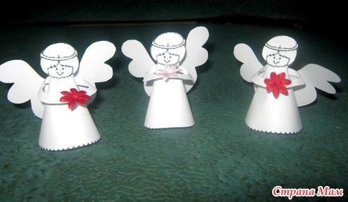 Рождественский ангел поделка из бумаги