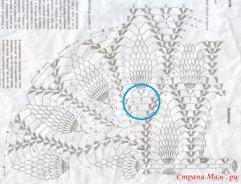 Вязание крючком овальных салфеток с ананасами