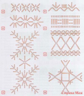 Схема пришивания бисера