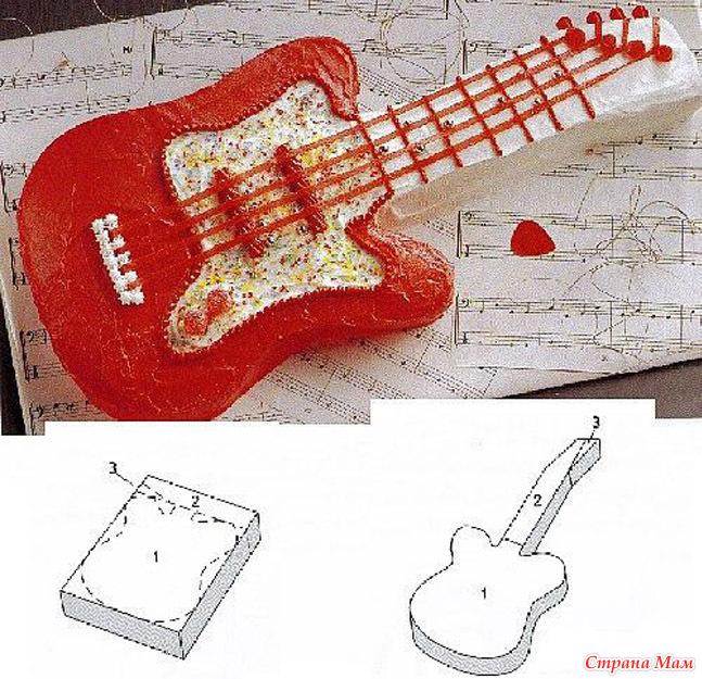 """Схема Торт """"Гитара"""""""