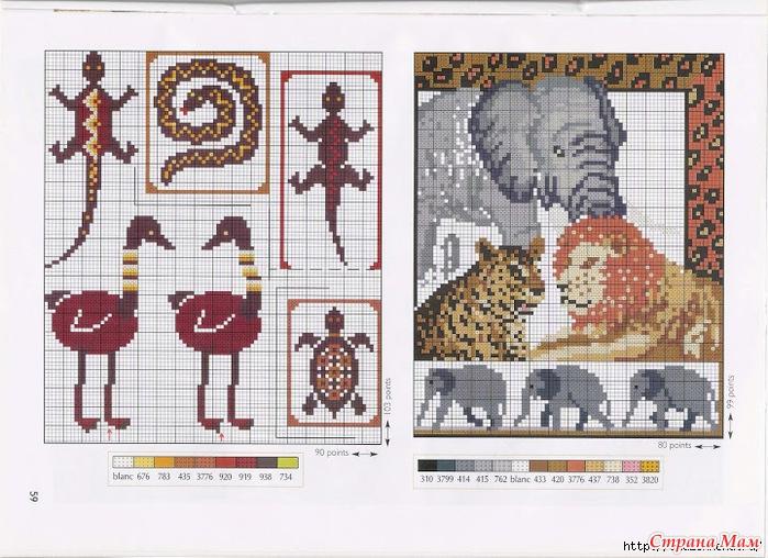 Африканские мотивы схемы вышивка крестом