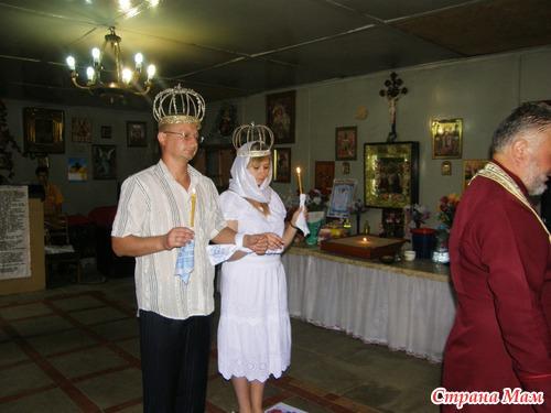 Когда закончилась служба, отец Михаил сказал нам, что заметил как во время службы нас окружили ангелы.
