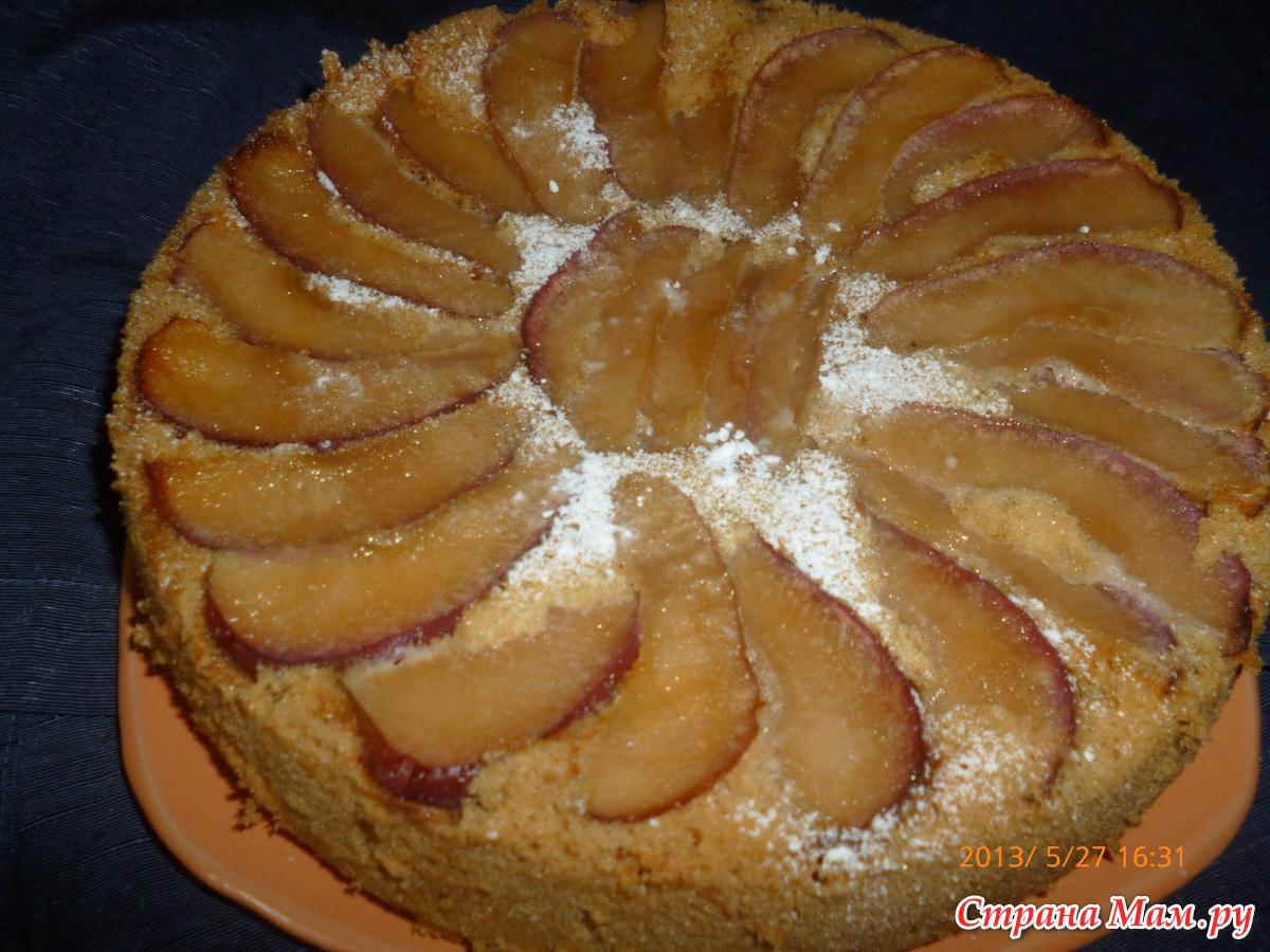 Шарлотка с яблоками рулет 6 фотография