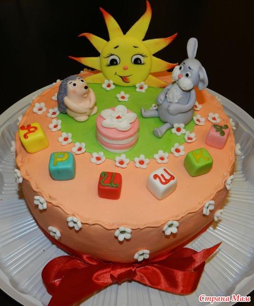 фото детских тортов из мастики в виде часиков