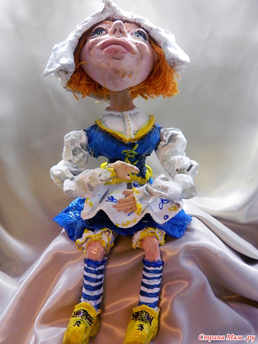 Куклы из папье маше своими руками фото