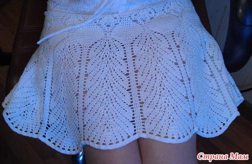 Белая юбка крючком Victoria's