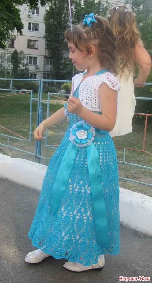 Вязание крючком платья на выпускной в детском саду 83
