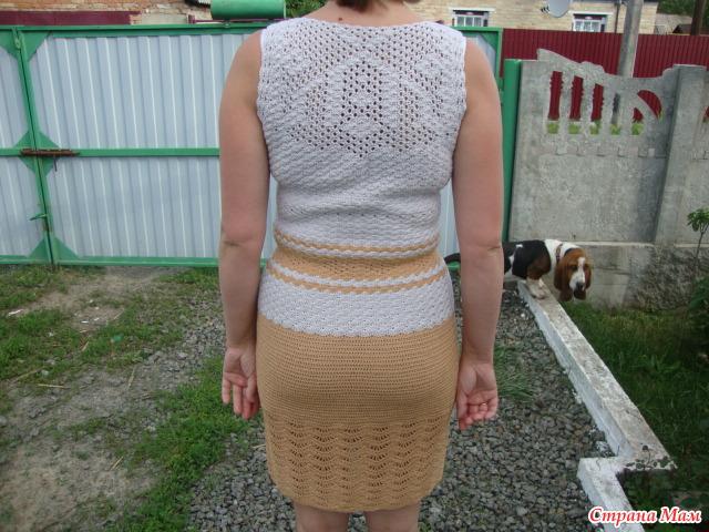 Подшить платье из вискозы