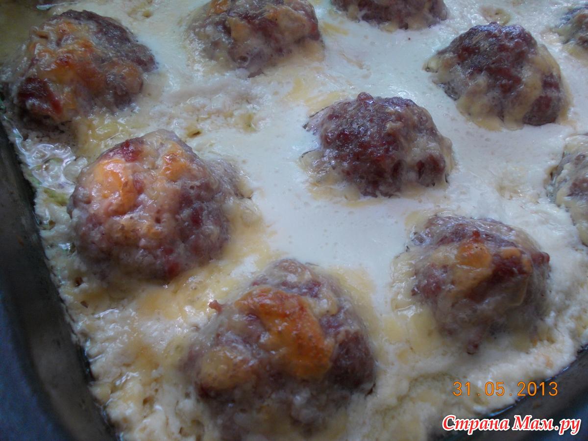 Шарики мясные с сыром в духовке рецепт с пошагово