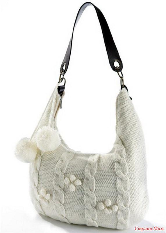 Вязаные сумки женские своими руками