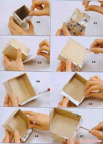 Как сделать своими руками шкатулку с фото