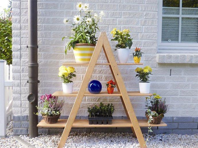 Подставки для цветов из дерева для дачи своими руками