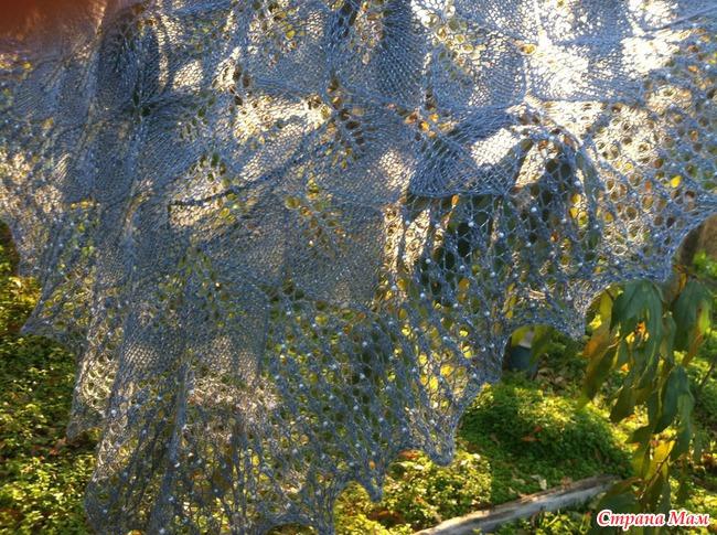 """Моя любимая шаль """"Замерзшие листья"""""""