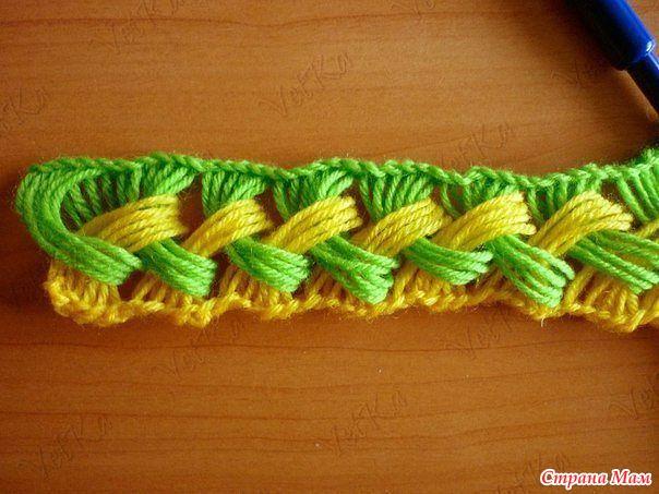 Очень яркий позитивный шарф