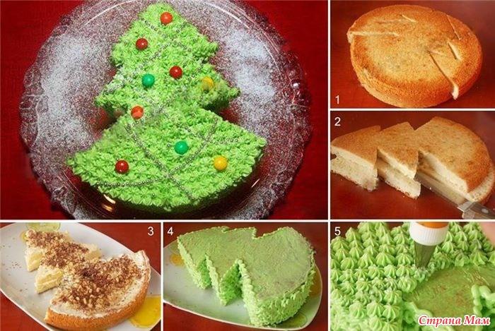 Торт новогодний в домашних условиях
