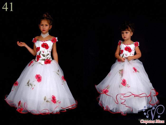 Нарядные платья для девочек на выпускной своими руками
